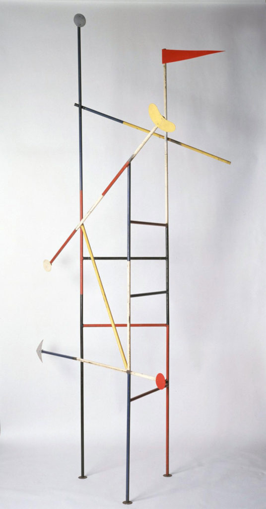 "Isamu Noguchi, ""Jungle Gym,"" 1947, steel, plastic, and paint. (© The Isamu Noguchi Foundation and Garden Museum, New York / ARS)"