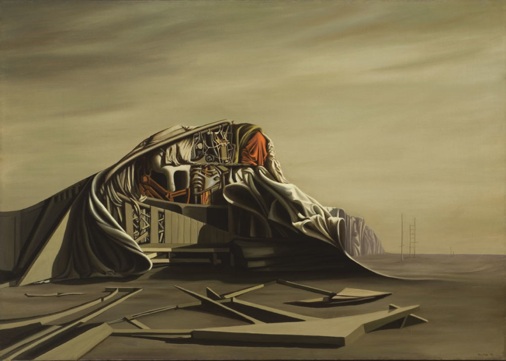 "Kay Sage, ""The Instant,"" 1949. Oil on canvas. (Courtesy Williams College Museum of Art)"