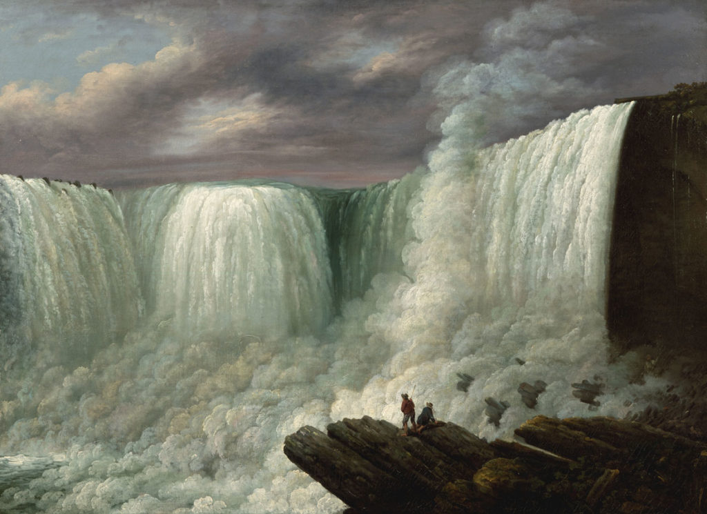 "Louisa Davis Minot (1788-1858), ""Niagara Falls,"" 1818, oil on canvas. (Courtesy Worcester Art Museum)"