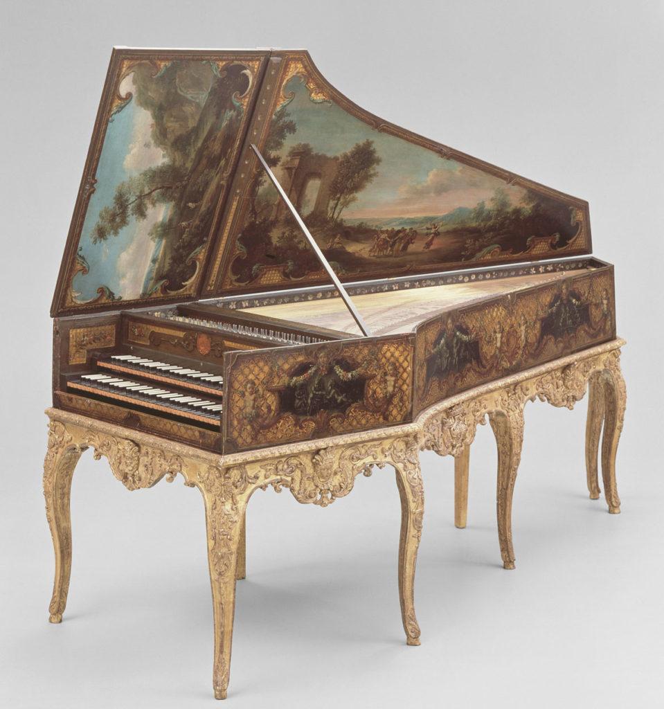 Henri Hemsch, harpsichord, probably 1736, poplar. (Courtesy Museum of Fine Arts, Boston)