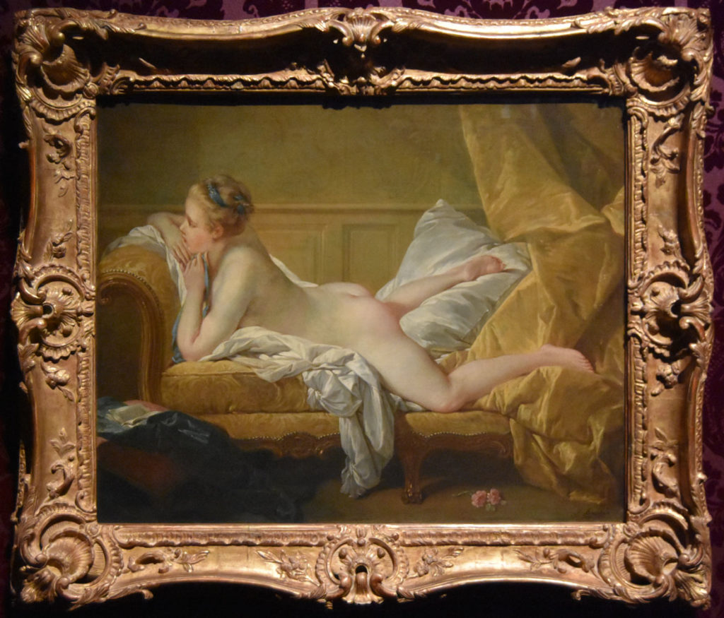 "François Boucher, "" Resting Girl (Louise O'Murphy),"" 1751, oil on canvas. (Greg Cook)"