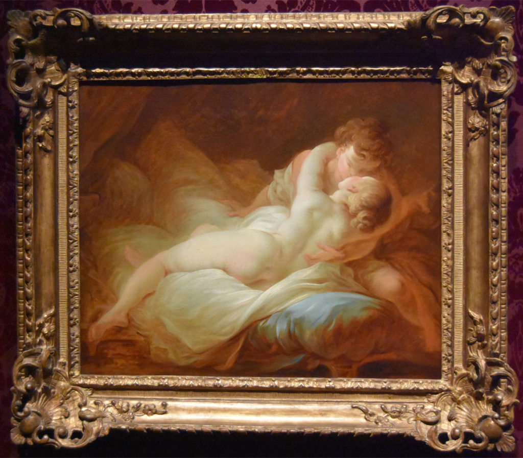 """Jean-Honoré Fragonard, """"The Desired Moment,"""" about 1770, oil on canvas. (Greg Cook)"""