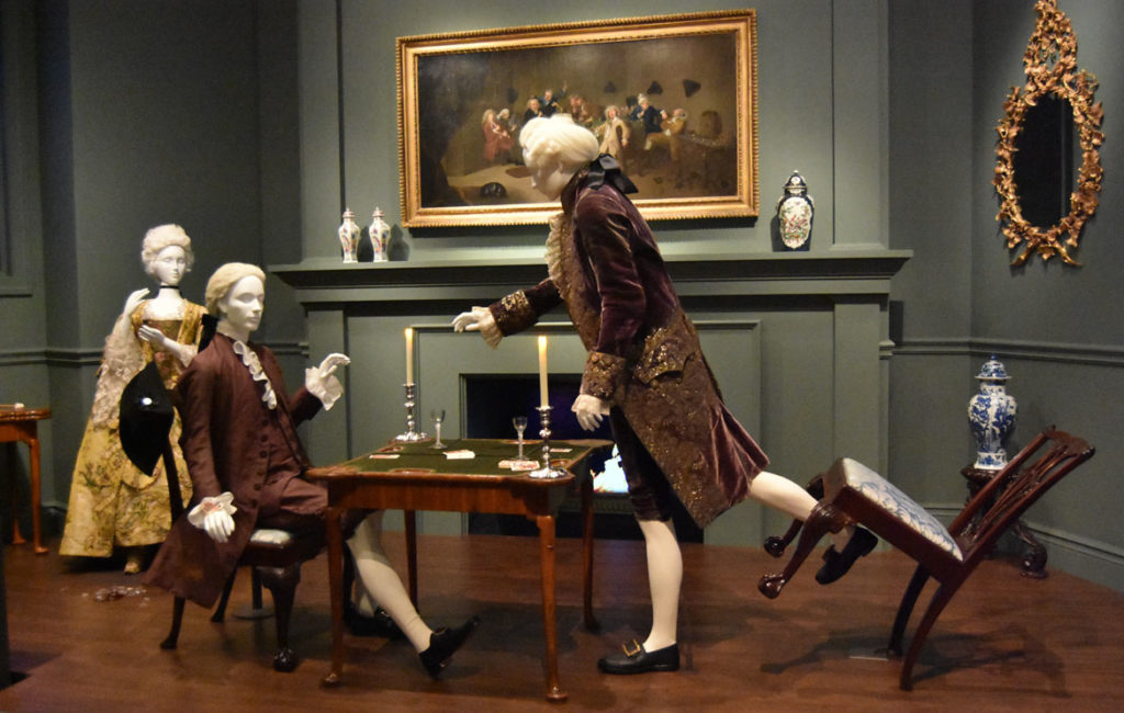 London host accuses guest of cheating at cards, c. 1760s. (Greg Cook)