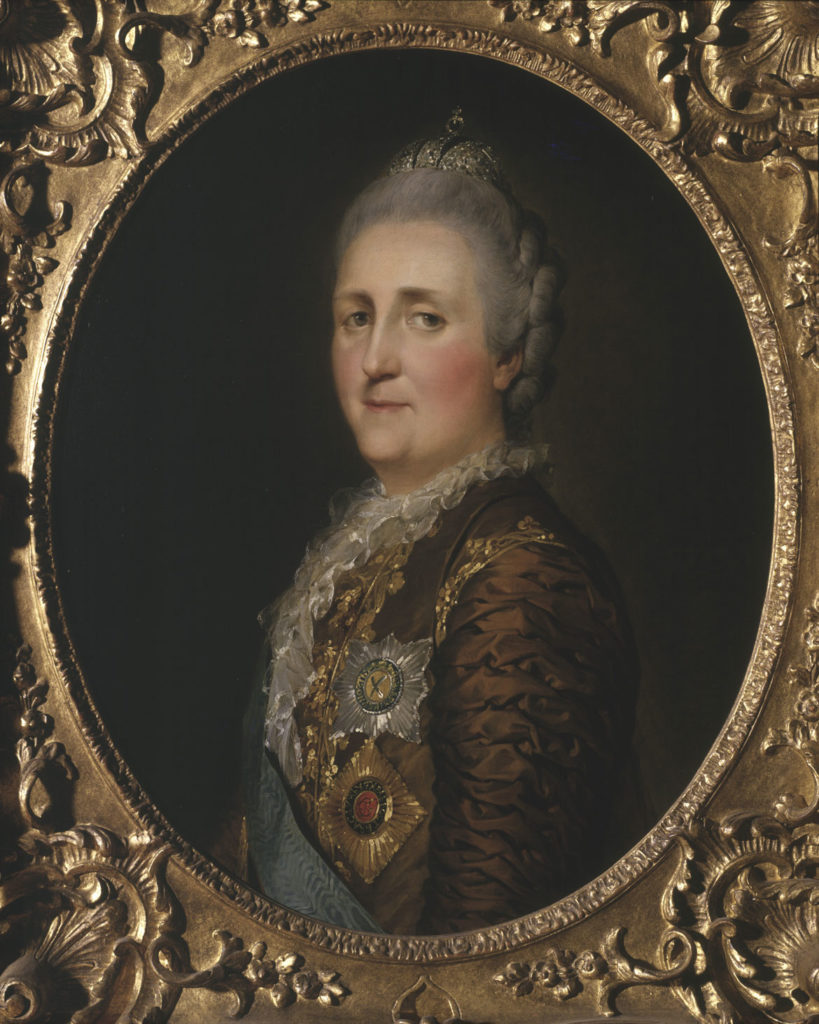 """Pierre‐Etienne Falconet, """"Catherine the Great,"""" 1773, oil on canvas. (Courtesy Museum of Fine Arts, Boston)"""