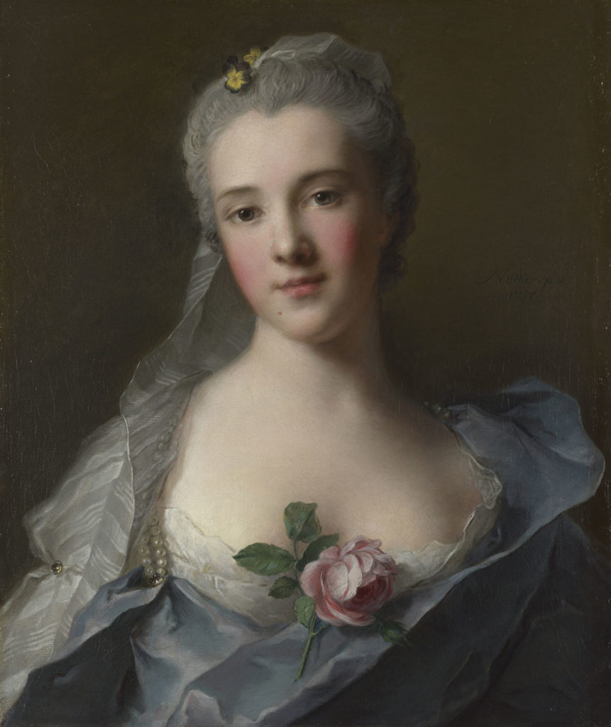"""Jean Marc Nattier's 1757 oil portrait of """"Manon Balletti."""" Casanova, the MFA says, """"considered Manon one of the few true loves of his life, but he would not commit to marriage."""" (Courtesy Museum of Fine Arts, Boston)"""