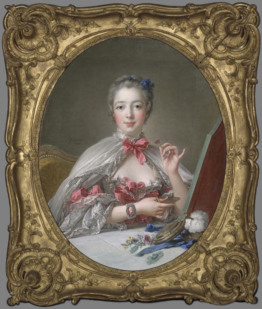 "François Boucher, King Louis XV's famous paramour""Jeanne Antoinette Poisson, Marquise de Pompadour,"" 1750 with later additions, oil on canvas. (Courtesy Museum of Fine Arts, Boston)"