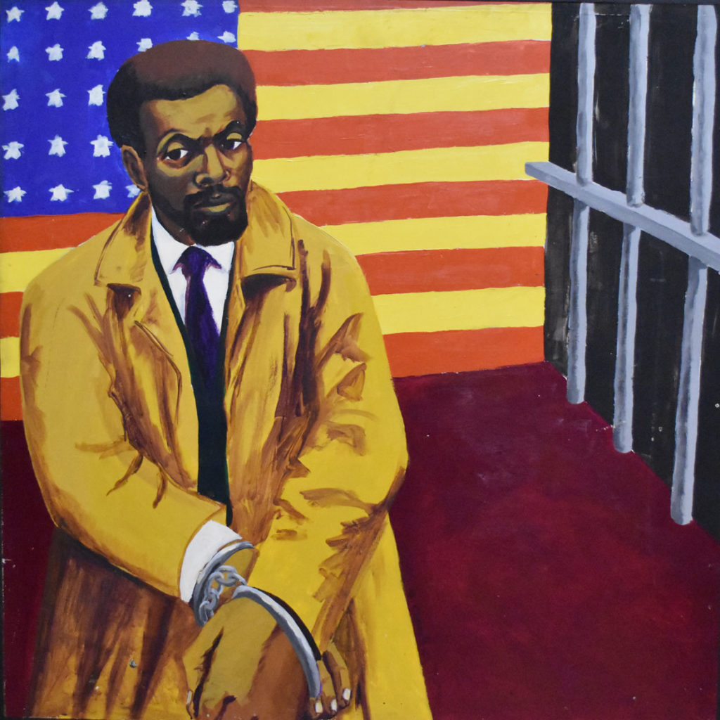 "Dana Chandler's ""Leroi Jones: Arrested,"" c. late 1960s/early '70s. (Collection of the Museum of the National Center of Afro-American Artists, Boston)"