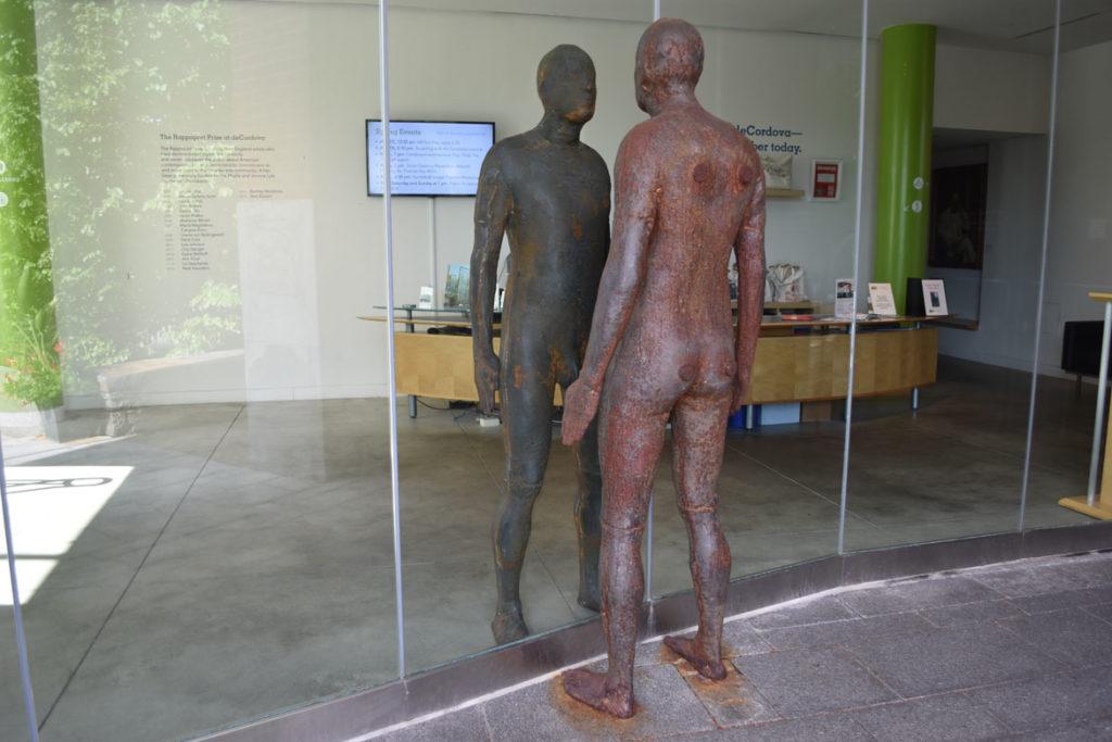 "DeCordova Sculpture Park and Museum, Sept. 15, 2018: Antony Gormley's 2008 sculpture ""Reflection II."" (Greg Cook)"