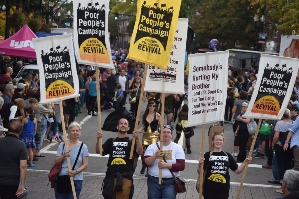 Poor People's Campaign in the Honk Parade, Oct. 7, 2018. (Greg Cook)