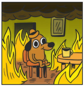 "K C Green's ""This Is Fine."""