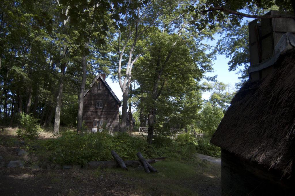 Pioneer Village: Salem in 1630 in Salem's Forest River Park, Sept. 1, 2017. (Greg Cook)