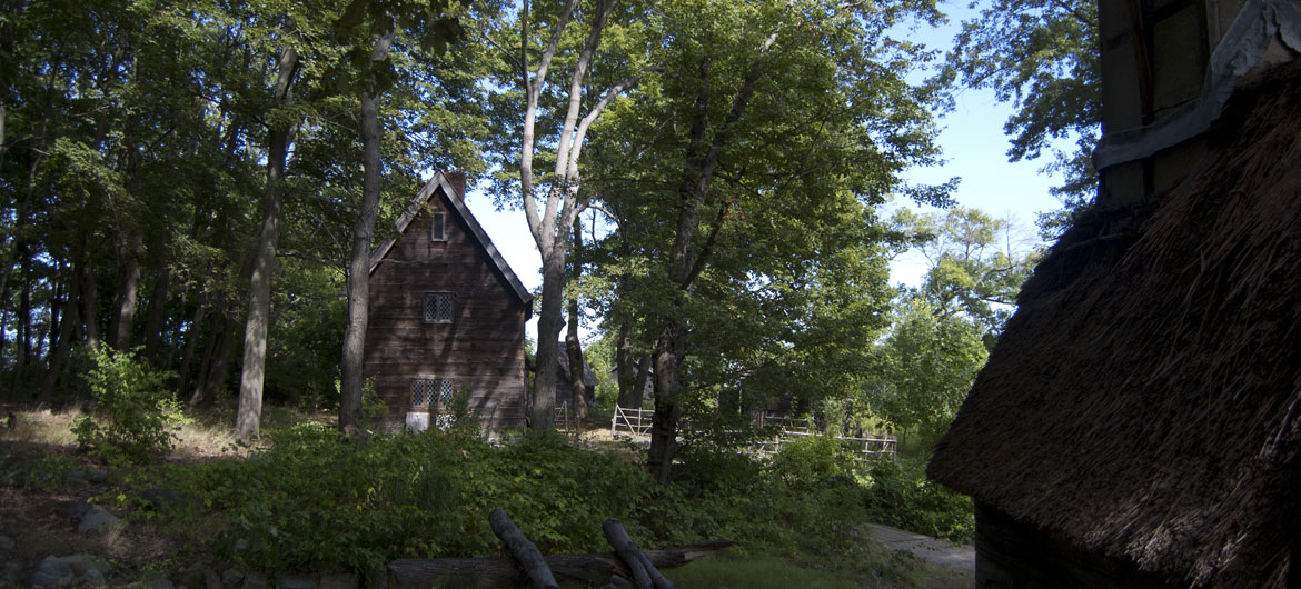 Pioneer Village: Salem in 1630 in Salem's Forest River Park, Sept. 1, 2017. (Greg Cook)