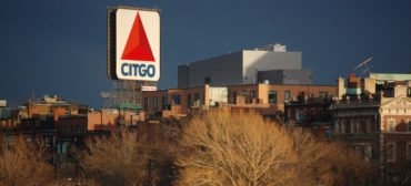 Citgo sign in Boston's Kenmore Square, March 29, 2013. (Greg Cook)