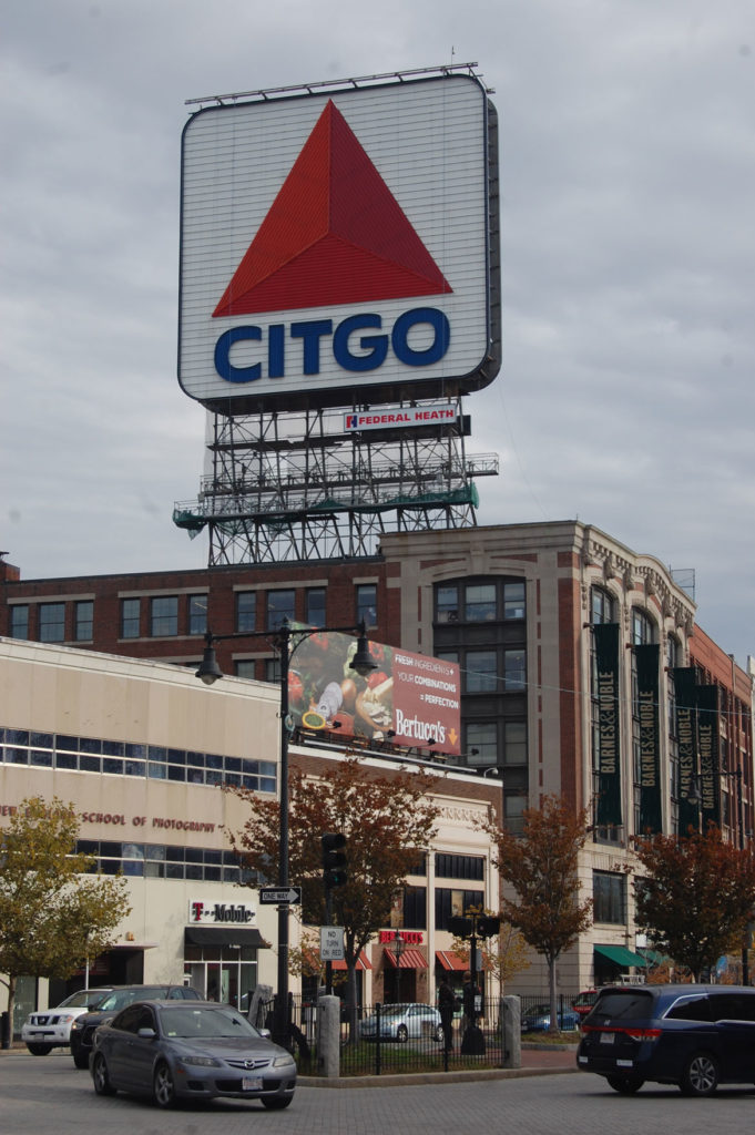 Citgo sign in Boston's Kenmore Square, Oct. 20, 2015. (Greg Cook)