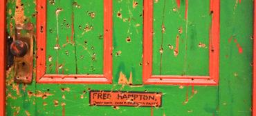 """Dana Chandler's """"Fred Hampton's Door 2,"""" 1975."""