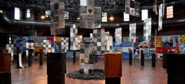 """""""Medicine Wheel"""" at Boston Center for the Arts Cyclorama, Nov. 30, 2018. (Greg Cook)"""