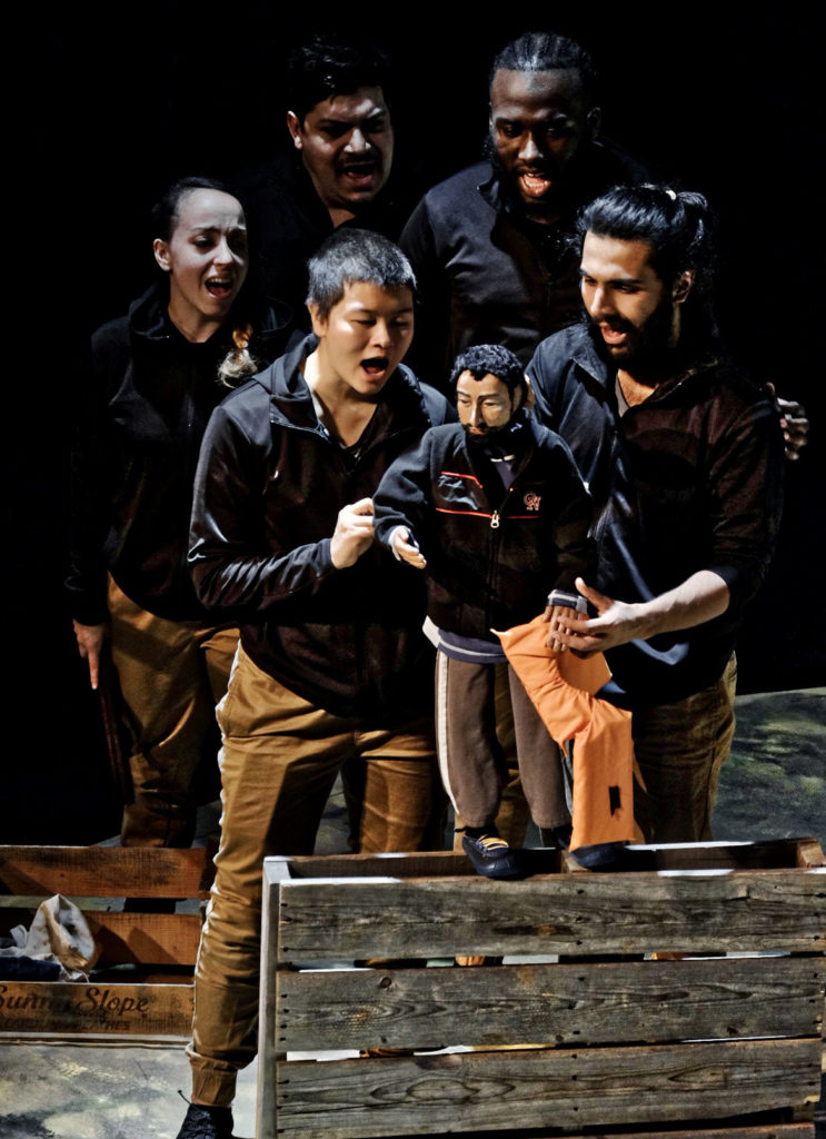 """Babylon: Journeys of Refugees"" by Sandglass Theater: The Man from Syria. (Photo: Kiqe Bosch)"