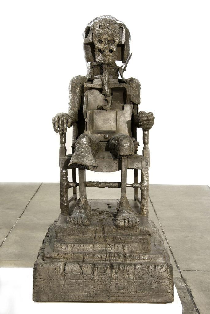"""Huma Bhabha, """"The Orientalist,"""" 2007, bronze. (© Huma Bhabha)"""