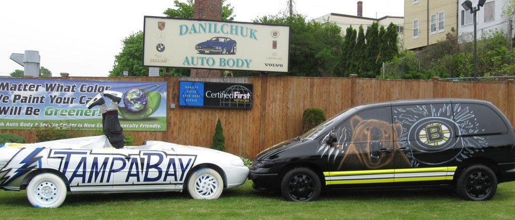 Danilchuk Auto Body's May 2011 Bruins versus Tampa Bay display. (Courtesy)