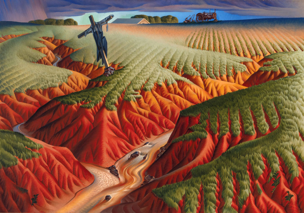 "Alexandre Hogue, ""Crucifed Land,"" 1939, oil on canvas. (© Estate of Alexandre Hogue)"