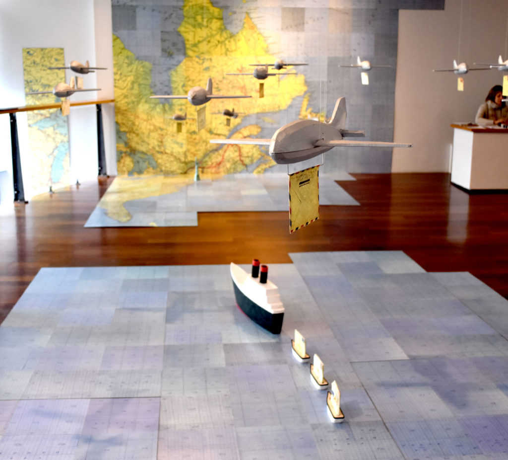 "Jessica Straus's ""TransAtlantic"" at Boston Sculptors Gallery, Jan. 4, 2019. (Greg Cook)"