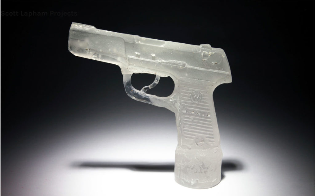 "Cast glass gun from ""One Gun Gone"" project. (Courtesy Scott Lapham)"