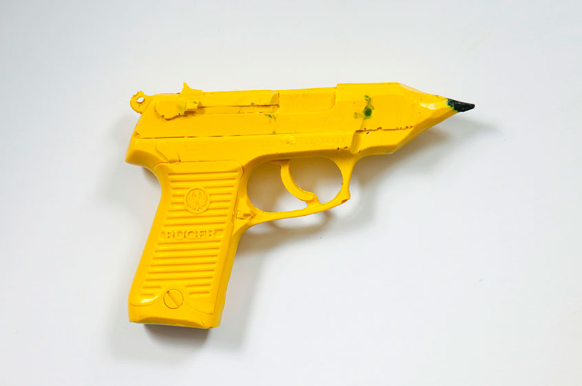 "Pencil gun from ""One Gun Gone"" project. (Courtesy Scott Lapham)"