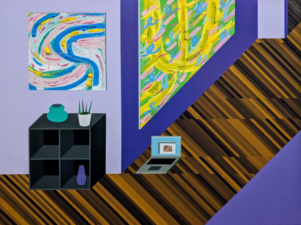 "Tim McCool's ""River St. Hallway,"" acrylic on canvas, 2018."