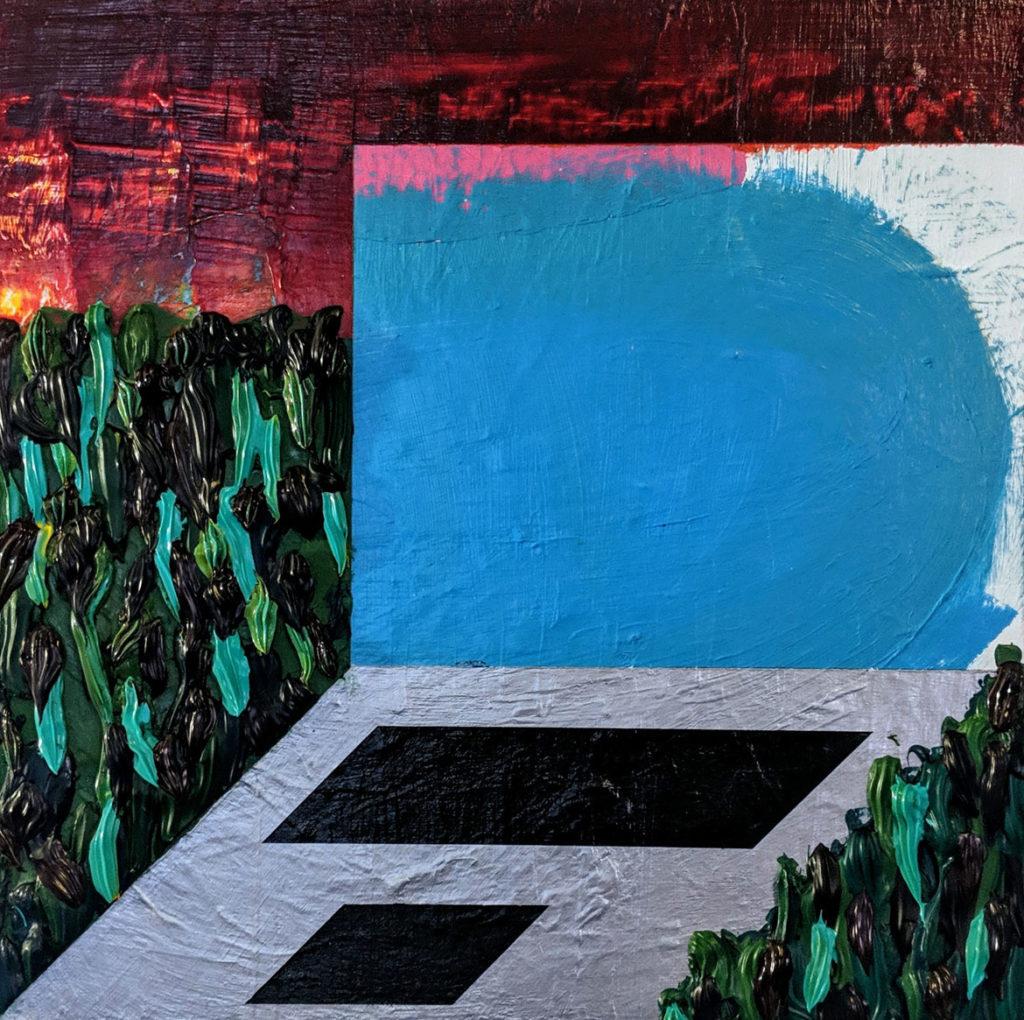 "Tim McCool's ""Wintermute,"" acrylic on canvas, 2018."