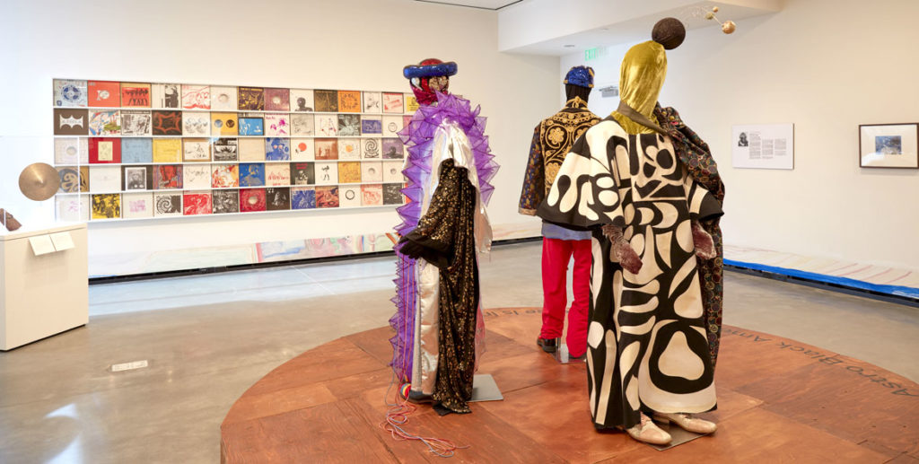 """Arkestra Clothing"" designed by Britt Howard with Portland Garment Factory. (Courtesy Portland Art Museum)"