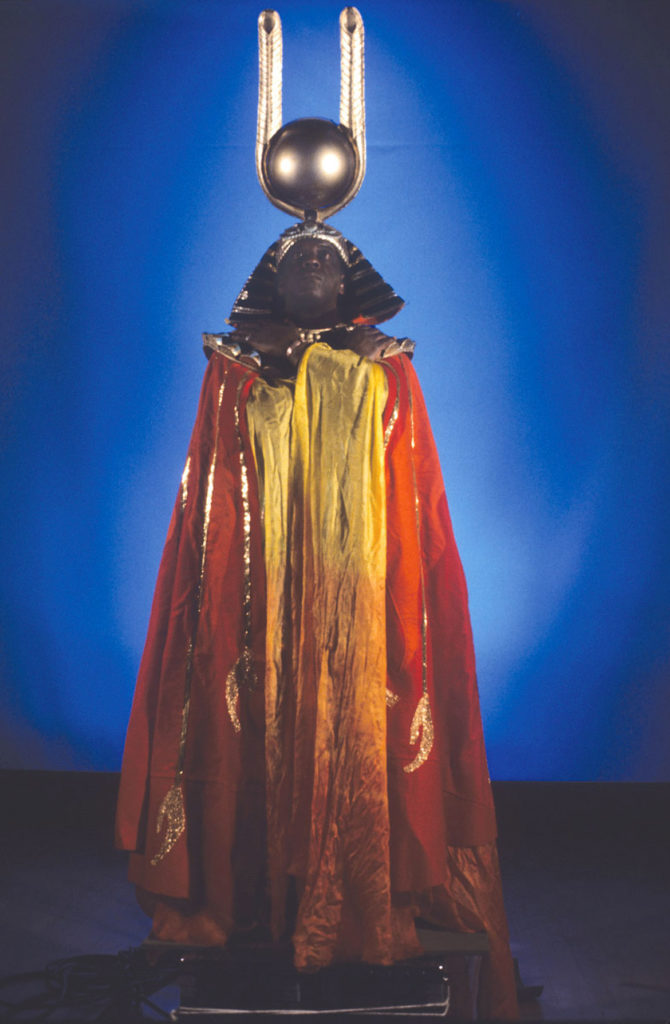 """Portrait of Sun Ra,"" 1974, by Jim Newman. (Courtesy Portland Art Museum)"
