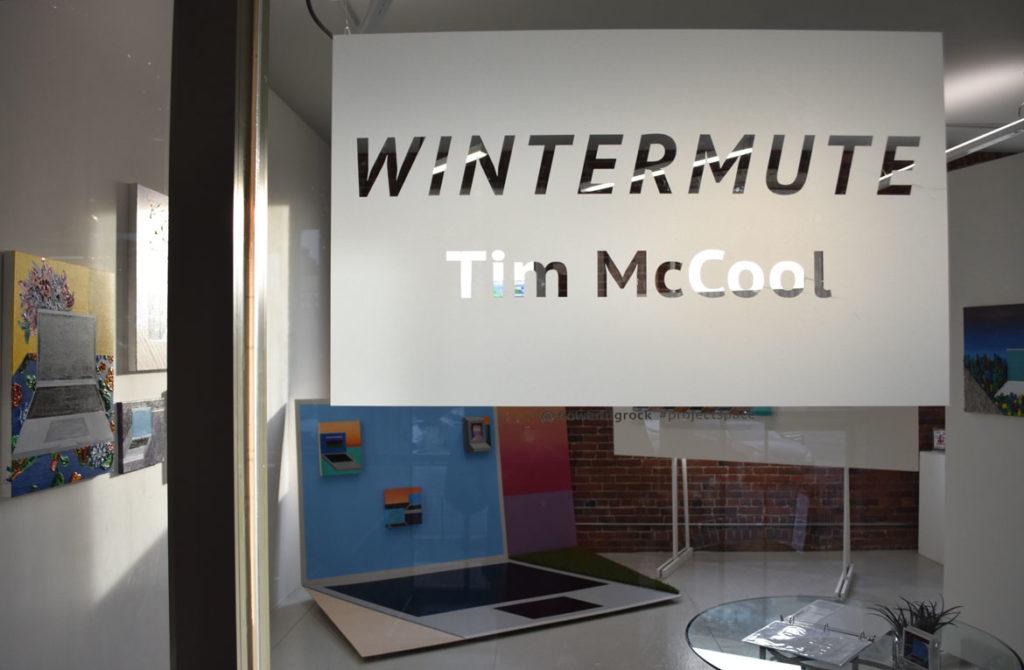 "Tim McCool's exhibition ""Wintermute"" at Flowering Rock, Boston, Jan. 4, 2019. (Greg Cook)"