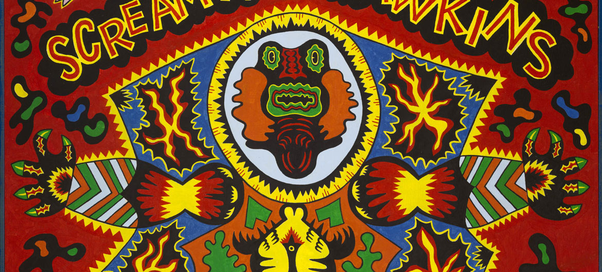 "Detail of Karl Wirsum, ""Screamin' Jay Hawkins,"" 1968."