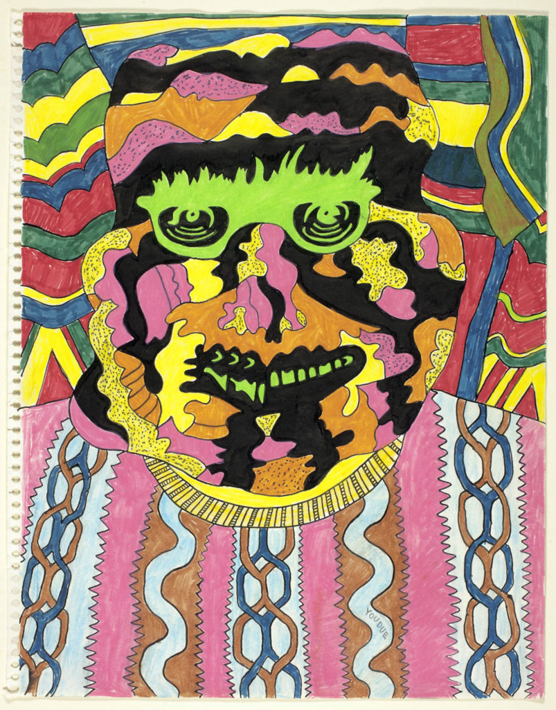 """Karl Wirsum, """"Youdue,"""" c. 1966."""