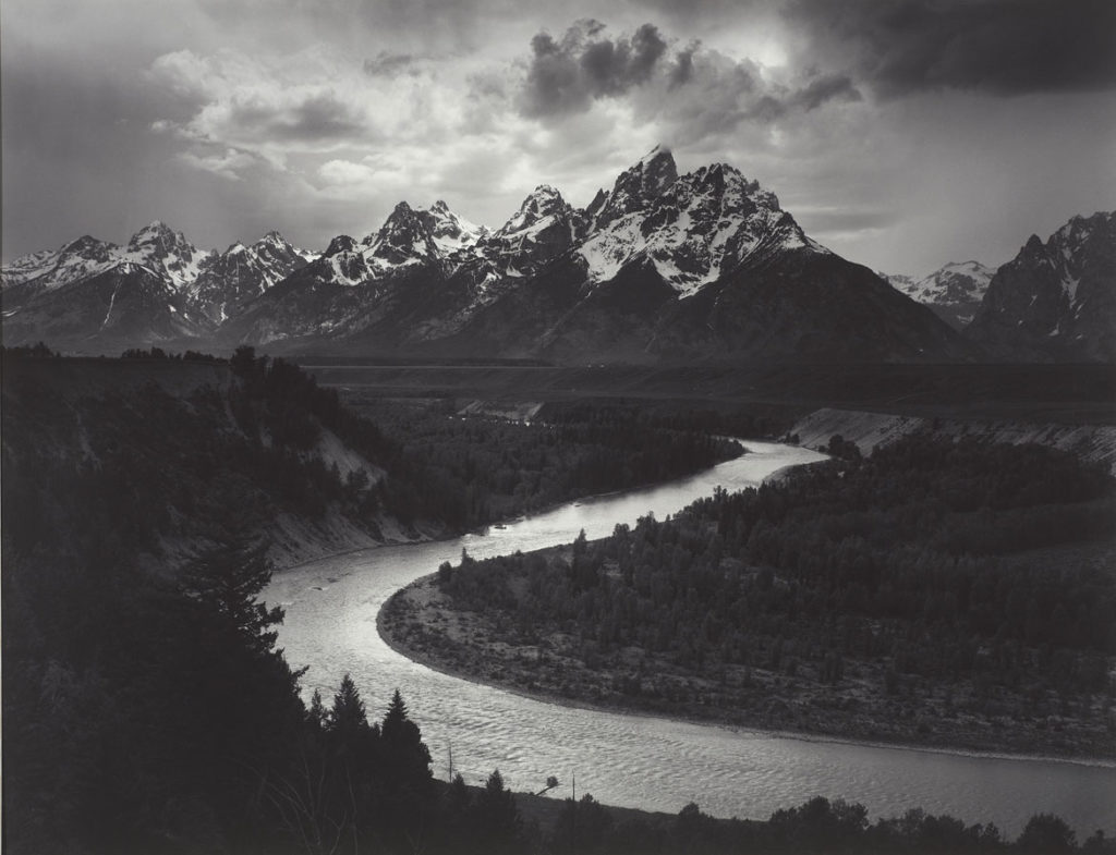"Ansel Adams, ""The Tetons and Snake River, Grand Teton National Park, Wyoming,"" 1942, print date: 1950–60, photograph, gelatin silver print. (Courtesy, Museum of Fine Arts, Boston)"
