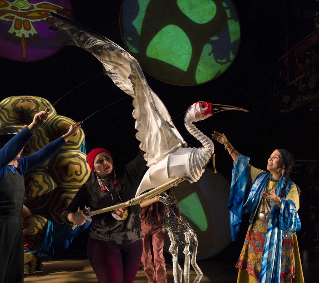 """Ajijaak on Turtle Island"" by Heather Henson and IBEX Puppetry. (Photo: Richard Termine)"