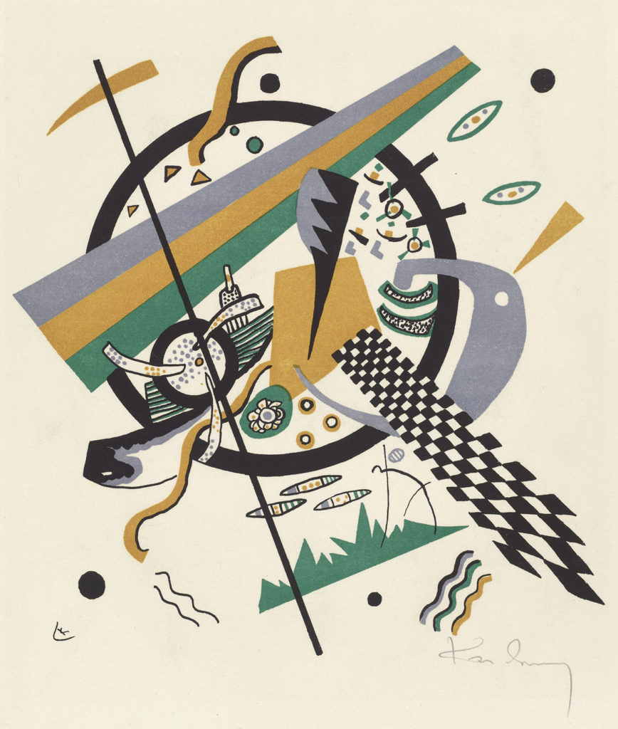 "At Museum of Fine Arts: Wassily Kandinsky, ""Kleine Welten IV,"" 1922, lithograph. (Courtesy Museum of Fine Arts, Boston)"