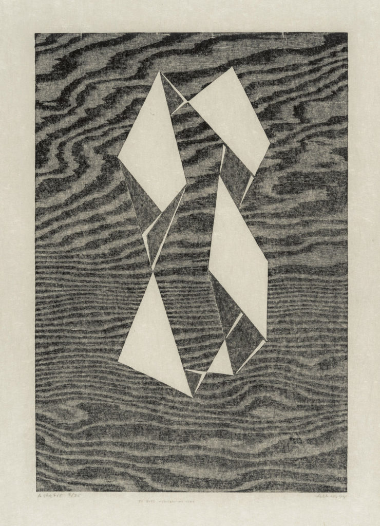 "At Museum of Fine Arts: Josef Albers, ""Astatic,"" 1944, woodcut. (Courtesy Museum of Fine Arts, Boston)"
