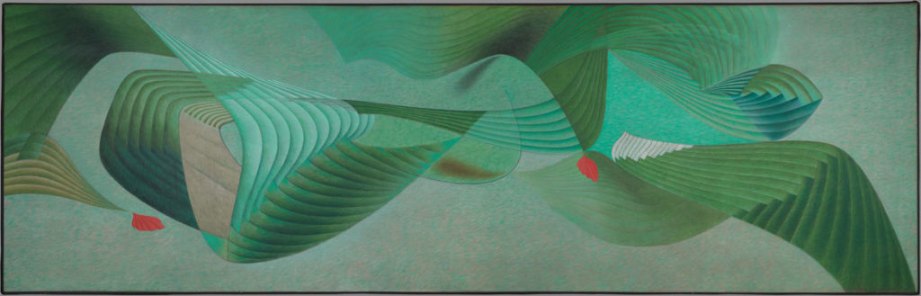 "At Harvard Art Museums: Herbert Bayer, ""Verdure,"" 1950. Oil on canvas. (Harvard Art Museums/Busch-Reisinger Museum)"