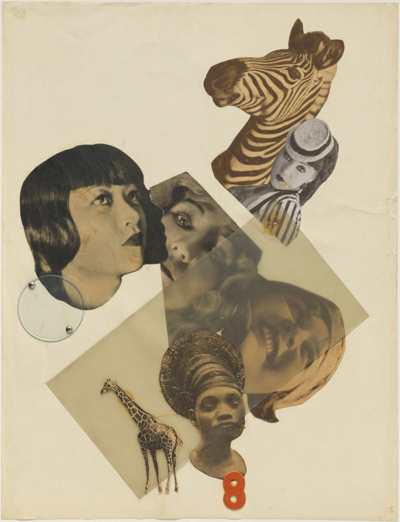 "At Harvard Art Museums: Marianne Brandt, ""Untitled (with Anna May Wong),"" 1929. Collage. (Harvard Art Museums/Busch-Reisinger Museum)"