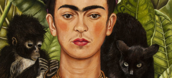 "Frida Kahlo, ""Self-Portrait with Hummingbird and Thorn Necklace,"" 1940, oil on canvas. (Courtesy, Museum of Fine Arts, Boston)"