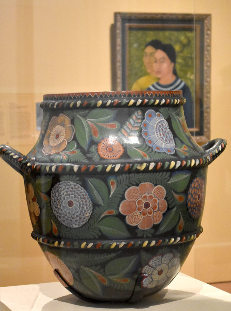 Burnished Jar (Olla), about 1930 Mexico, single-fired, painted earthenware. (Greg Cook photo)