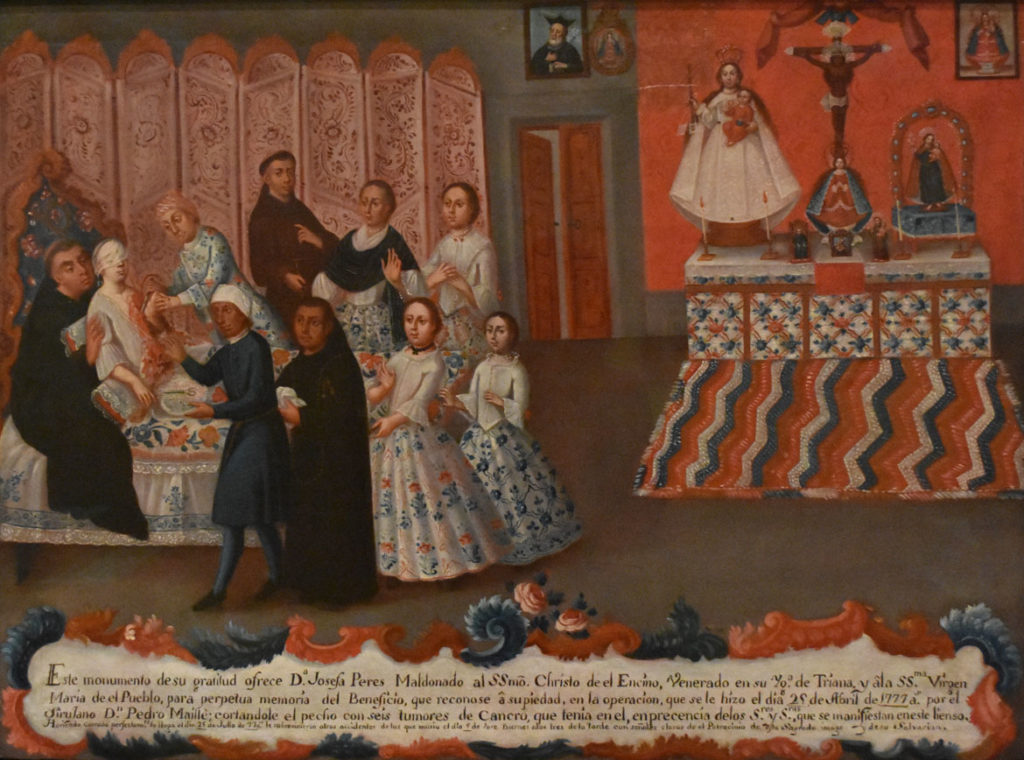 """Peres Maldonado Ex-voto,"" after 1777 Mexico, oil on canvas. (Davis Museum at Wellesley College)"