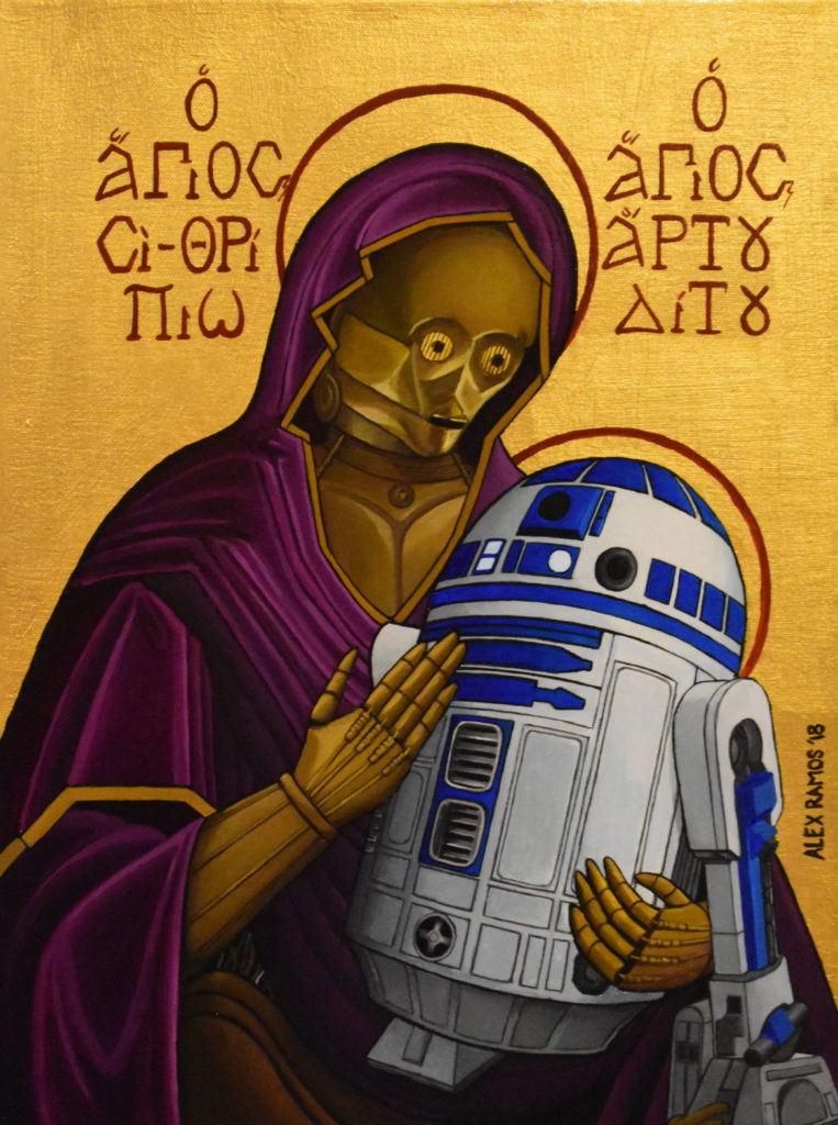 "Alex Ramos, ""C-3PO and R2-D2 Madonna and Child."""
