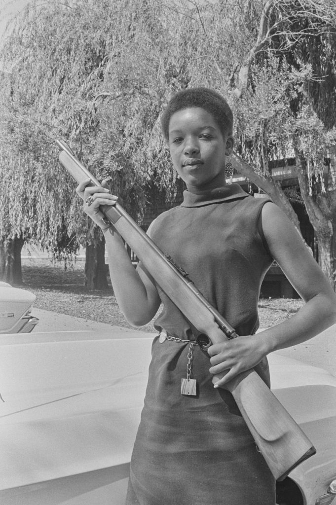 "Pirkle Jones, ""Black Panther, Marin City,"" August 31, 1968. (Courtesy University of California, Santa Cruz)"