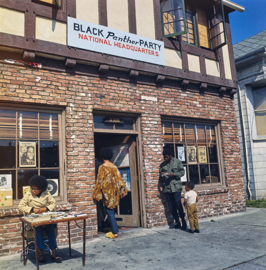"Ruth-Marion Baruch, ""Black Panther Party National Headquarters, Oakland, CA,"" May 20, 1969. (Courtesy University of California, Santa Cruz)"