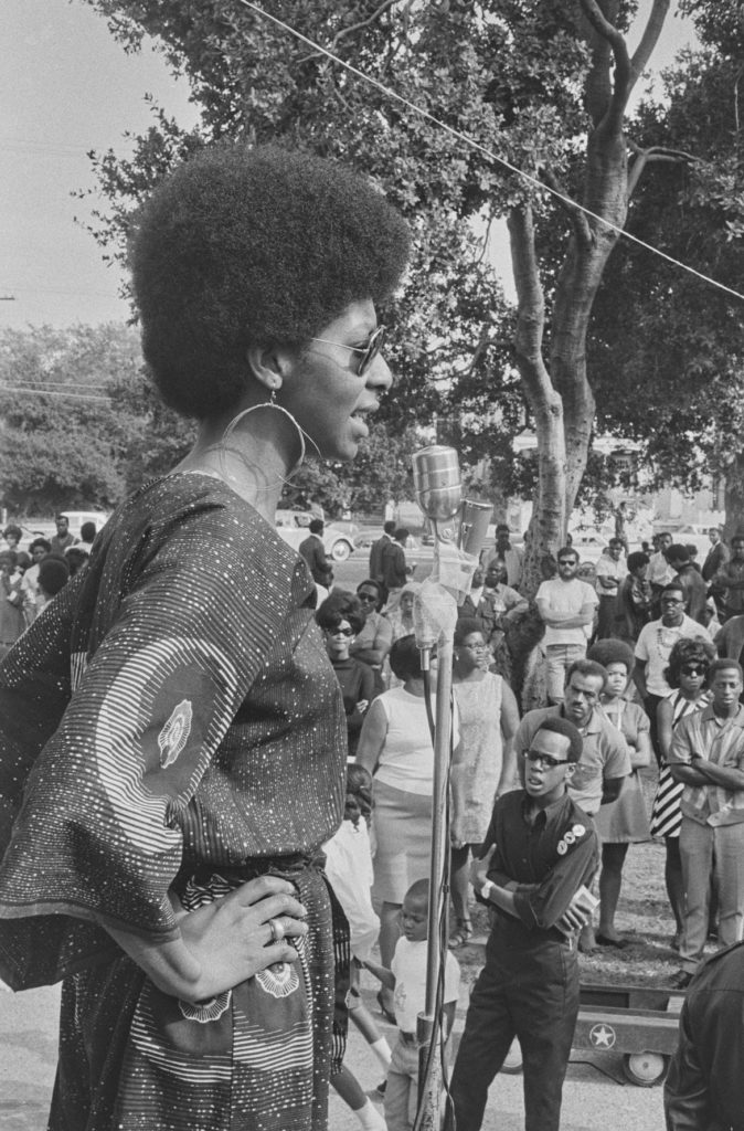 "Pirkle Jones, ""Free Huey rally, Bobby Hutton Memorial Park (formerly DeFremery Park),"" Sep. 22, 1968. (Courtesy University of California, Santa Cruz)"