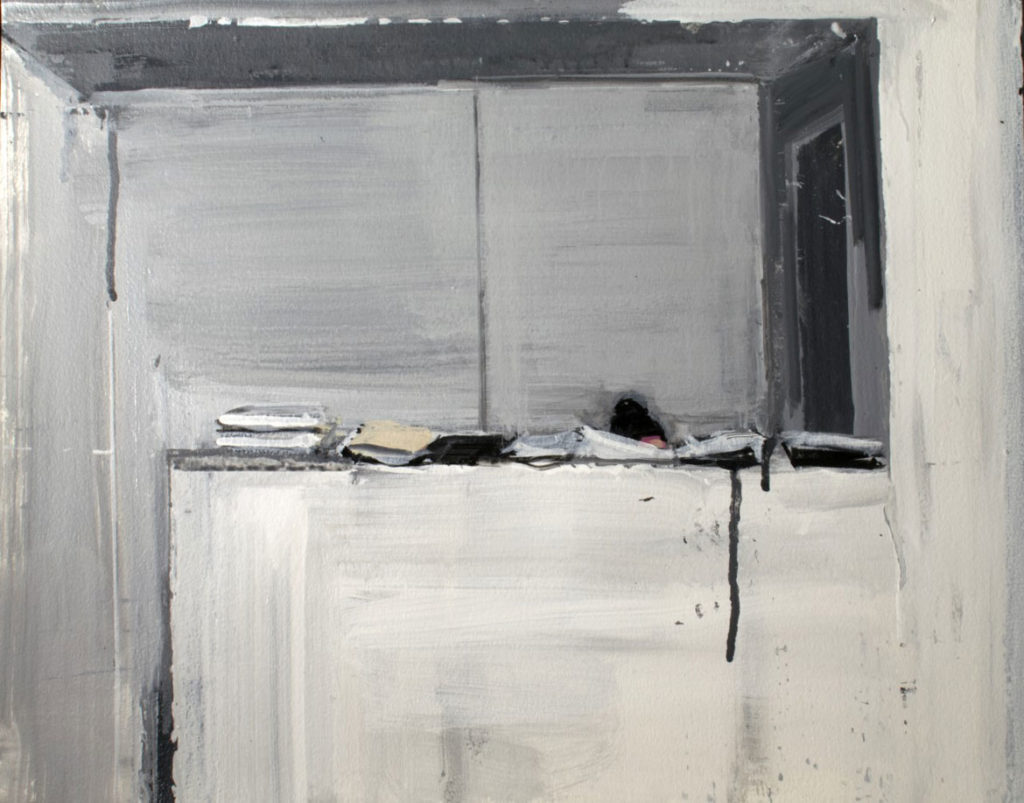 """Laura Chasman """"Barely Visible,"""" 2018, acrylic on paper. (Courtesy Gallery Kayafas)"""