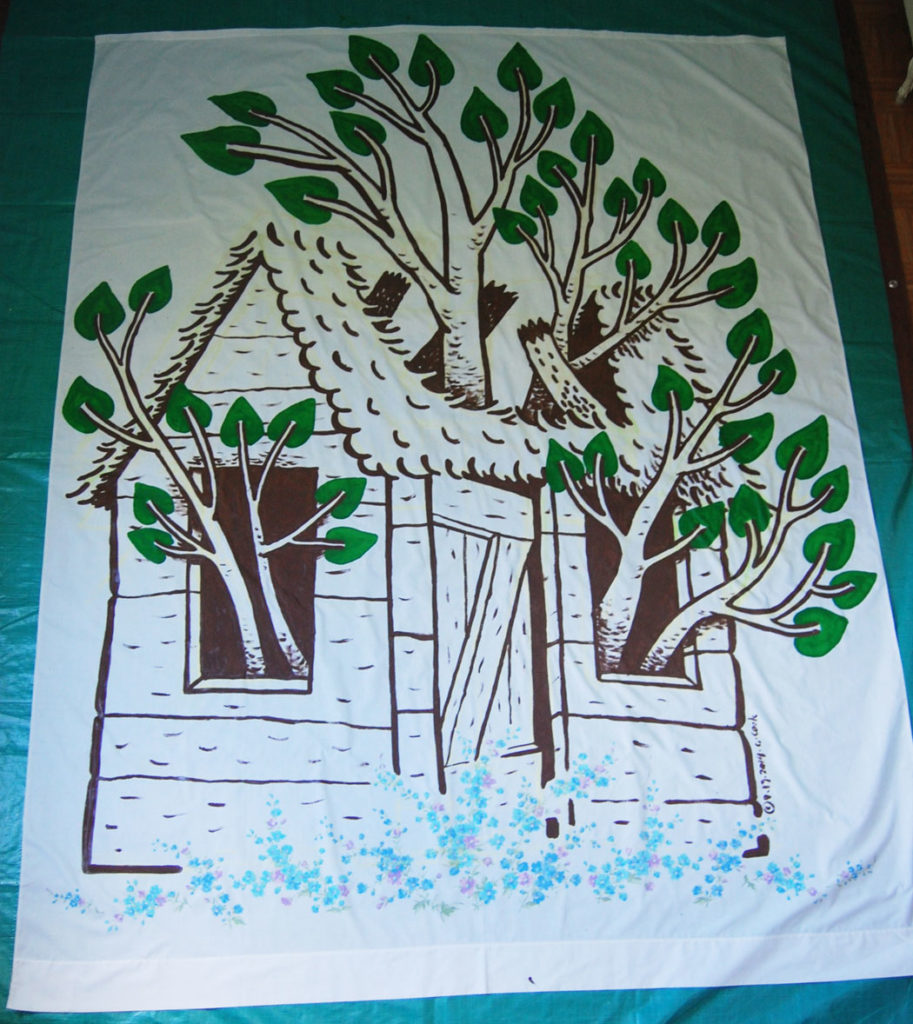 "Greg Cook's ""Enchanted Forest"" banner, Sep. 19, 2014. (Greg Cook)"