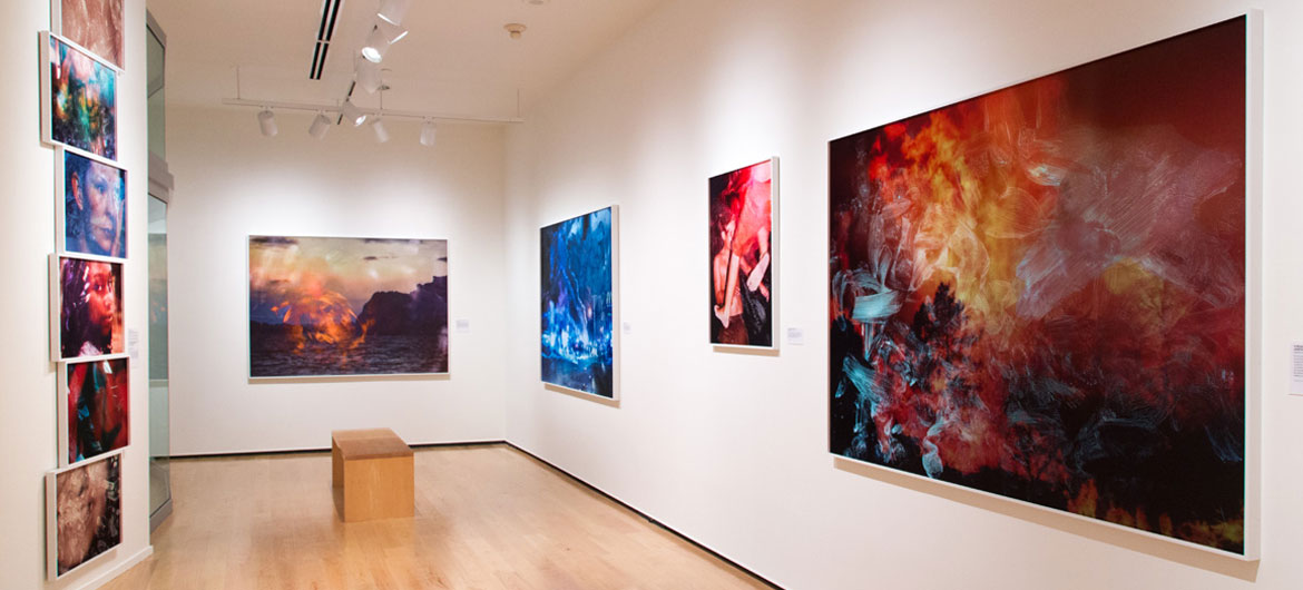 "Tabitha Soren's exhibition, ""Surface Tension"" on view at Wellesley College's Davis Museum through June 9, 2019. (Courtesy of the museum)"